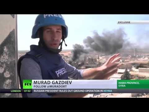 RT news ของรัสเซียรายงานข่าวจากสนามรบแนวหน้าในซีเรีย