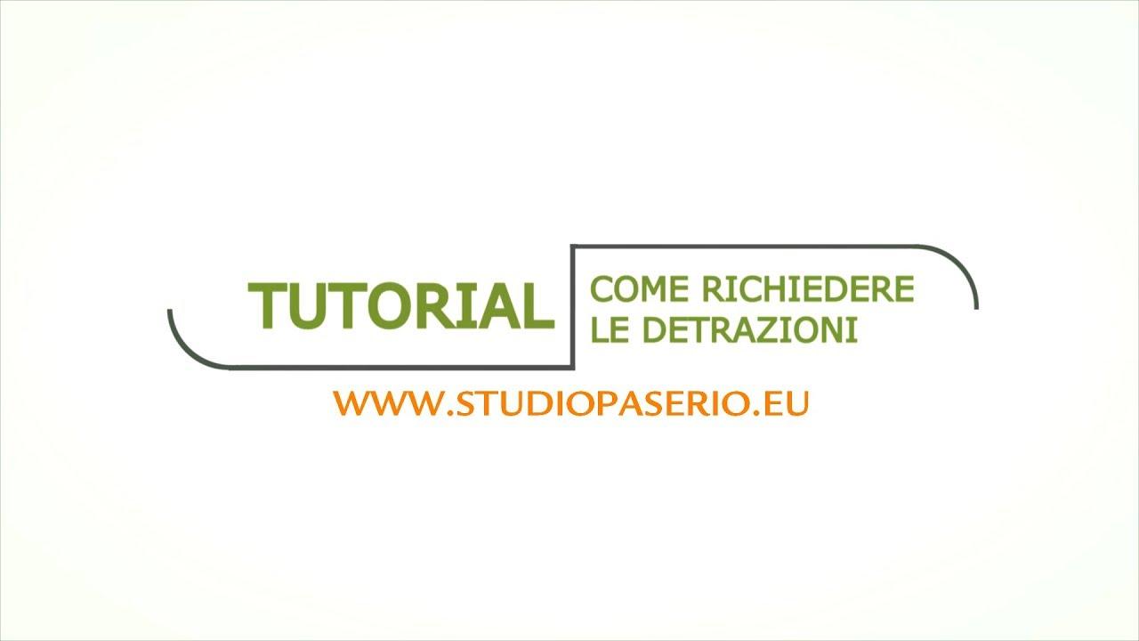 Comunicazione Asl Detrazione 50 Modulo tutorial - come compilare il modello per le detrazioni