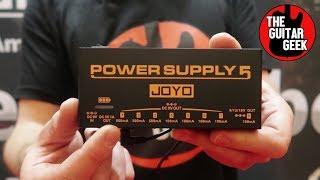 Battery-powered Power Supply for your pedalboard - Joyo JP-05 Demo 2018