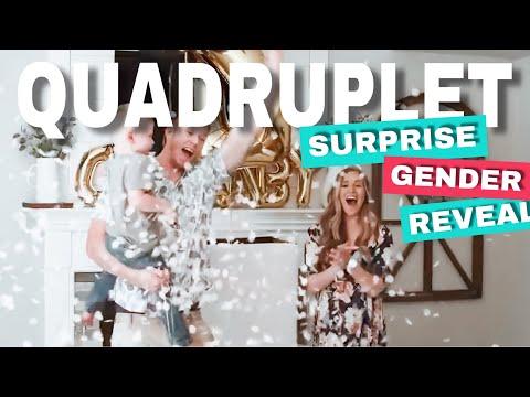 SURPRISE QUADRUPLET ANNOUNCEMENT AT GENDER REVEAL PARTY!