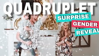 SURPRISE QUADRUPLET ANNOUNCEMENT AT GENDER REVEAL PARTY!