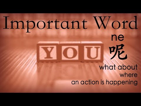 Learn Chinese Vocabulary: 呢 ne-- what about / where / an action is happening
