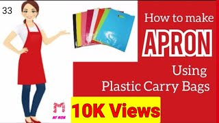 DIY APRON from plastic carry bags Kitchen Apron MF MOM #apron #kitchen #diy #mfmom
