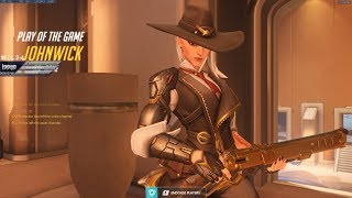 Overwatch IDDQD Switchs To Ashe And Goes Insane -Sick Aim-