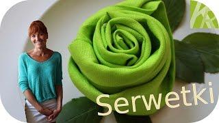 Repeat youtube video Składanie Serwetek. Róża i Kwiat Lotosu [KuchniaRenaty]