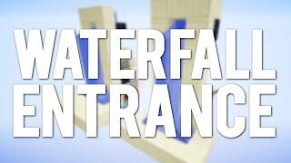 Minecraft: New Simple Waterfall Hidden Entrance