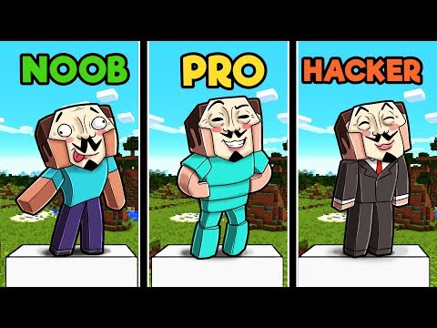Minecraft - WHO IS THE REAL HACKER? (NOOB OR PRO OR HACKER) thumbnail