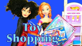 Barbie TOY STORE Shopping with Mother Gothel Tangled