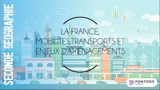 SECONDE : La France, mobilités, transports, enjeux d'aménagements
