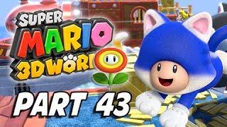 Super Mario 3D World Walkthrough Part 43 - Boss Blitz (100% Green Stars & Stamps)