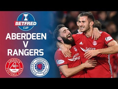 Aberdeen 1-0 Rangers | Ferguson's late header books Aberdeen a place in the final | Betfred Cup