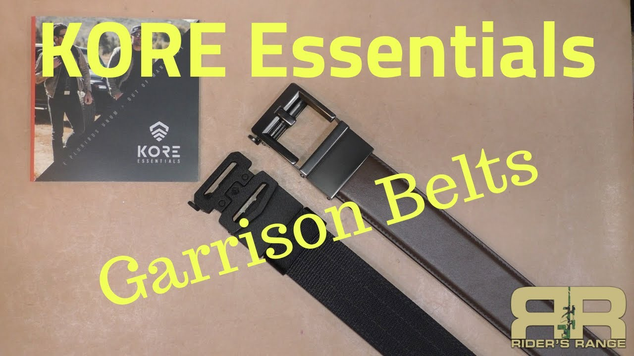 Kore Essentials Garrison Belts Youtube This belt has a simple but ingenious design in that it allows an almost you buy the belt, attach the buckle at the correct end, and then try the belt on, and trim the end so that it's not sticking. kore essentials garrison belts