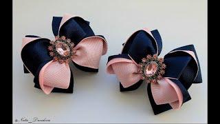 Невероятно красивые Бантики из репсовых лент.DIY Hair Bow / Beautiful Ribbon Bow .