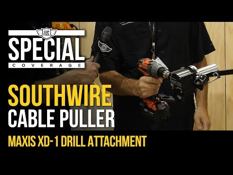 Southwire Maxis 18V Cable Puller 1000 Lbs XD1 Cordless Drill Attachment