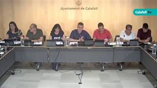 Ajuntament de Calafell: sessió plenària extraordinària, 29 de juliol de 2019