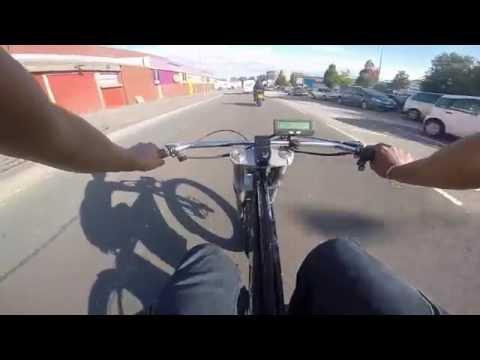 WIMBIKES Custom Cruiser 50mph ebike uk electric bike fast HD 5500w