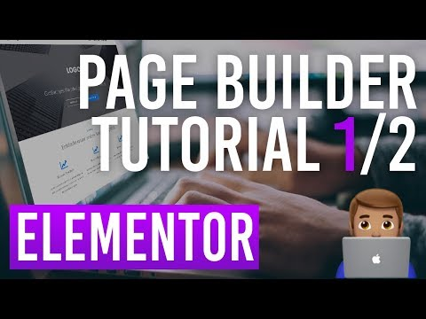 Elementor WordPress Page Builder Teil 1/2 - Tutorial Deutsch