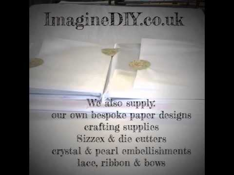 DIY wedding invitations and stationery supplies at Imagine DIY