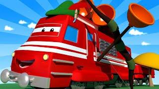 Troy der Zug -  Der Bogenschützen-Zug  - Autopolis 🚄 Lastwagen Zeichentrickfilme für Kinder
