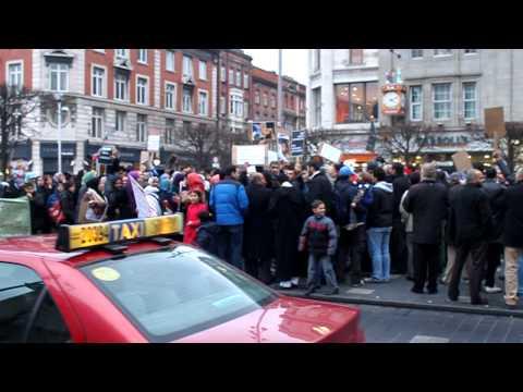 Dublin, Ireland Libya protest
