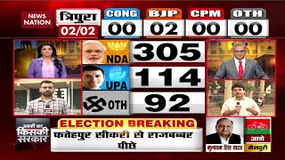 The initial trends of the Lok Sabha Poll results show a tough fight...
