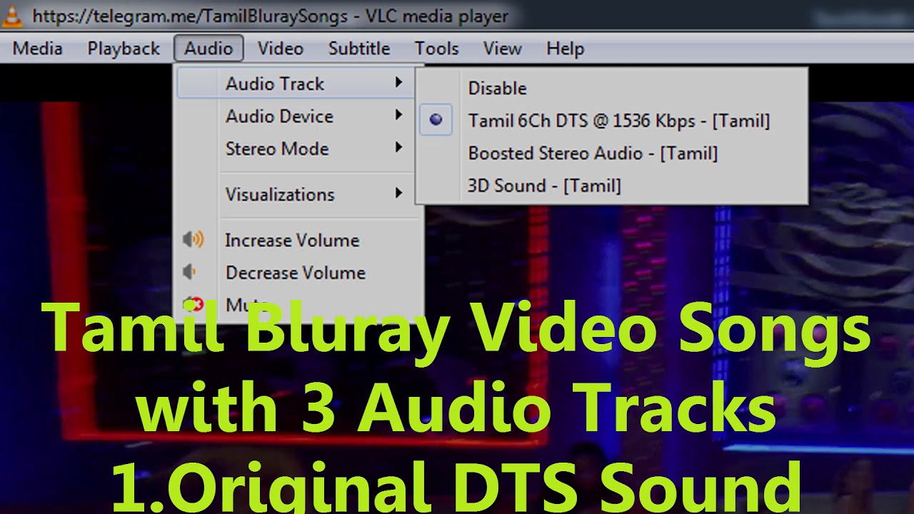 Tamil bluray HD 1080P & 4k Video Songs with 3 Audio tracks Direct Download