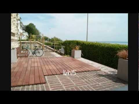 construction terrasse en bois exotique dalles clipsables sundeck