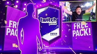 FREE TWITCH PRIME PACK!! GUARANTEED WALKOUT!! FIFA 19
