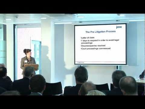 The Pre-litigation Process: JMW Solicitors Breakfast Briefing