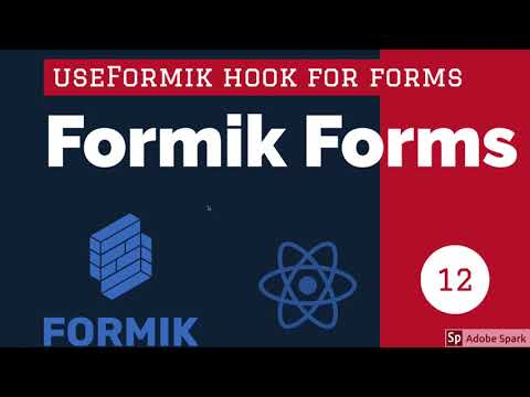 React Formik YouTube Form using useFormik Hook