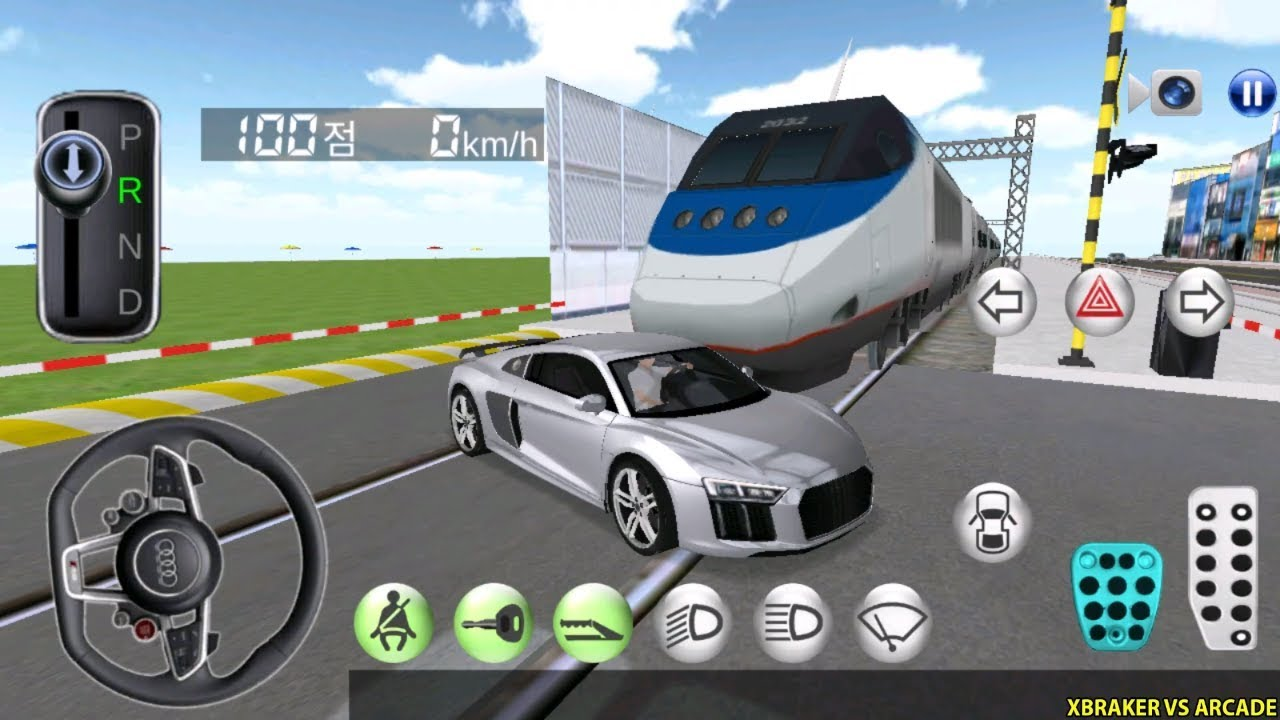 Korean Car Driving Simulator - New Car Unlocked #Audi- Driver's License Examination Gameplay 20
