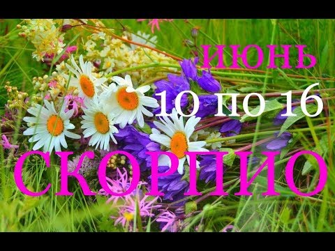 СКОРПИОН.ТАРО-ГОРОСКОП на НЕДЕЛЮ с 10 по 16 ИЮНЯ. 2019 Г.