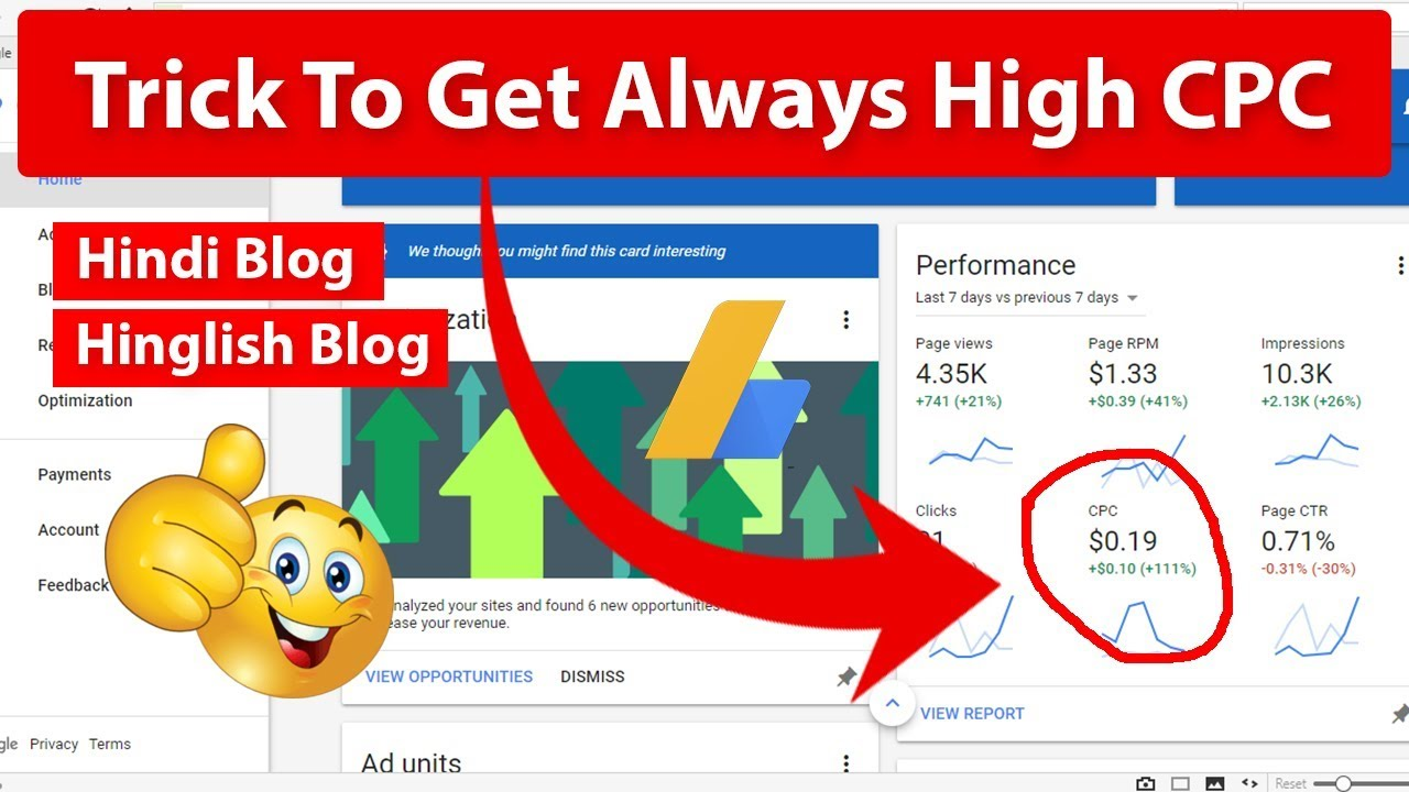 Tips To Get Always High CPC in AdSense 2019