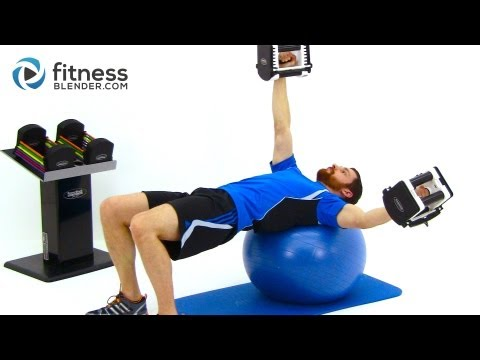 Upper Body Functional Strength Training - Dumbbell Workout by FitnessBlender.com