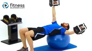 Upper Body Functional Strength Training - Dumbbell Workout by FitnessBlender.com