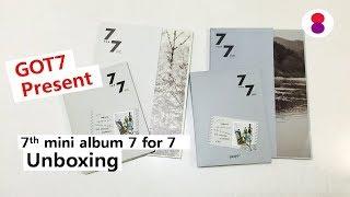 Got7 7for7 present edition unboxing 갓세븐 미니 7집 언박싱ガットセブンミニ 7集アルバム