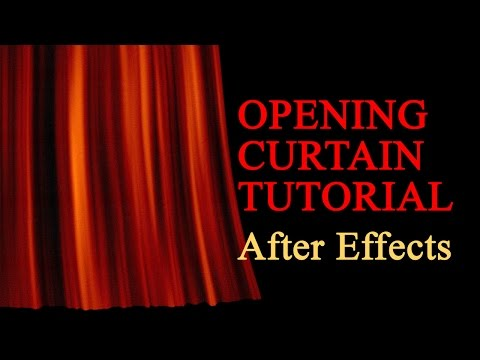 Realistic Opening Curtain (After Effects Tutorial)