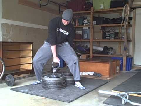 dinnie stone trainer deadlifts at 555 lbs 300 lbs front and 255 lbs back youtube. Black Bedroom Furniture Sets. Home Design Ideas
