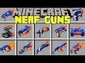Minecraft  NERF GUNS MOD / CRAZIEST NERF BATTLES WITH NERF TANKS! / Modded Mini-Game