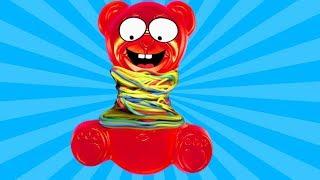 Wieviele Gummibänder hält Lucky Bär aus? Experiment