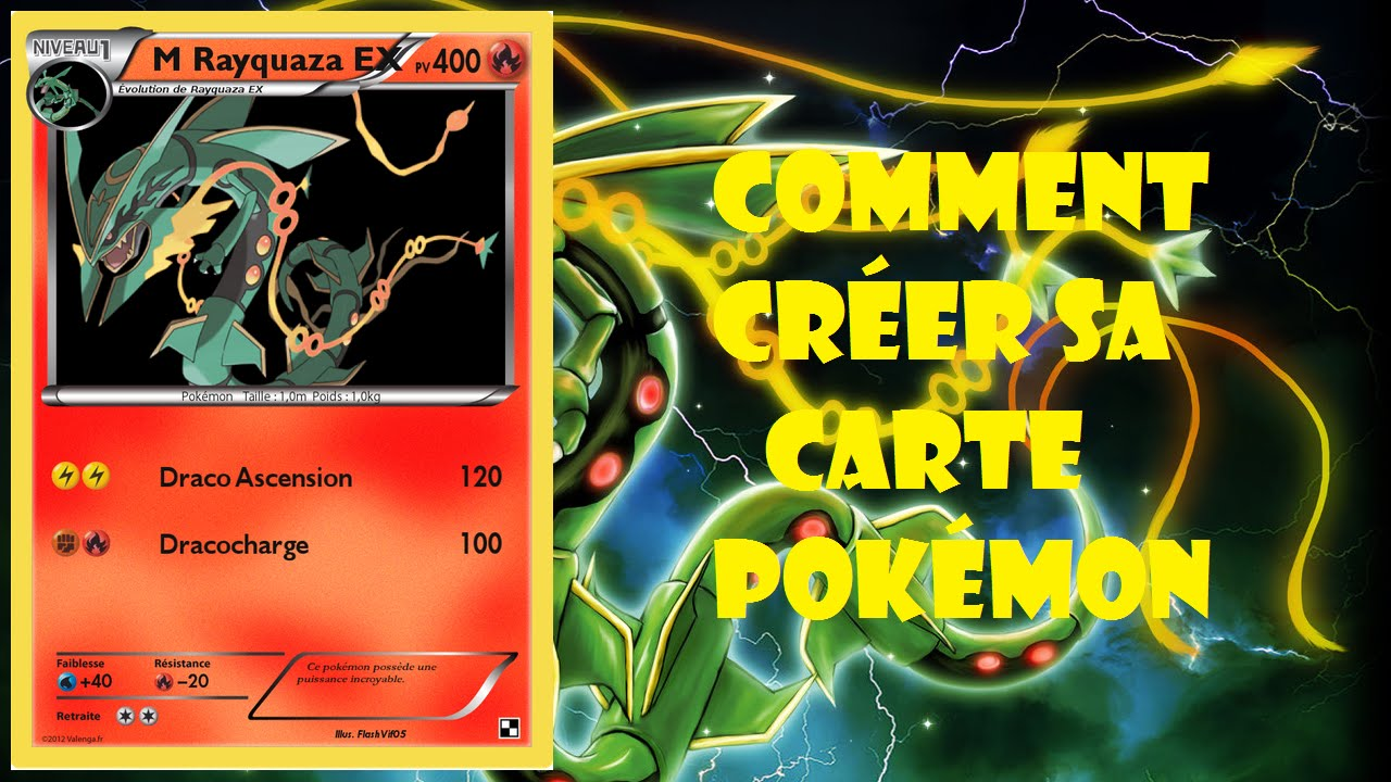 Tuto 39 nova comment cr er sa propre carte pok mon youtube - Imprimer une carte pokemon ...