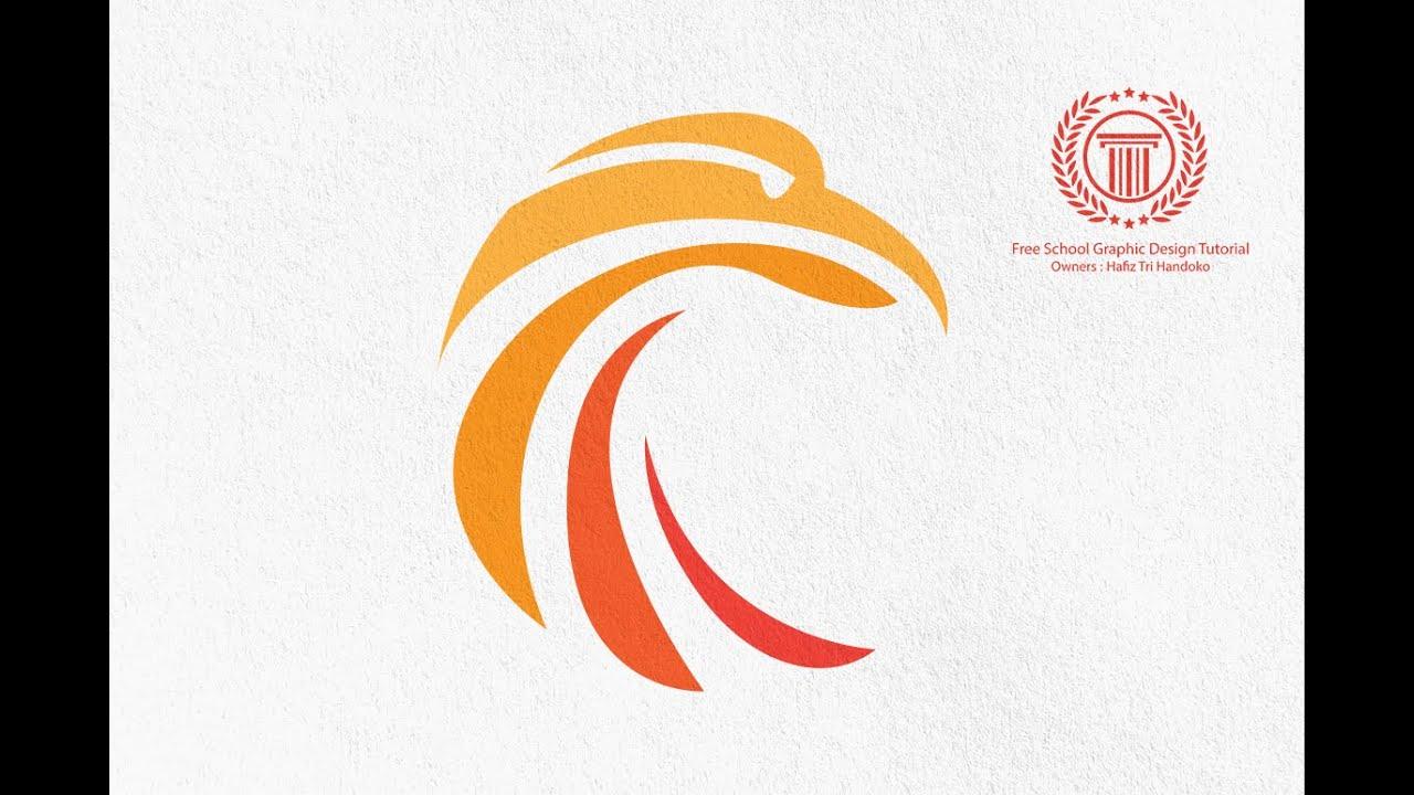 simple circle bird logo design tutorial how to make a