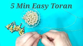 5 minutes Toran    Easy DIY Toran    Door Hanging   