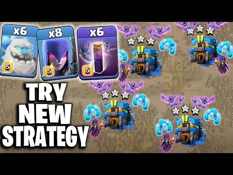 6 Ice Golem + 8 Witch + 6 Bat Spell = Try New TH12 War 3star Attack | Clash Of Clans