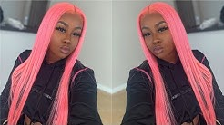 WATCH ME INSTALL THIS PINK FULL LACE WIG   CHINALACEWIG