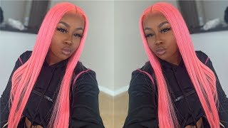 WATCH ME INSTALL THIS PINK FULL LACE WIG | CHINALACEWIG
