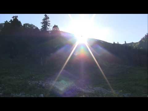 Восход солнца в горах Абхазии
