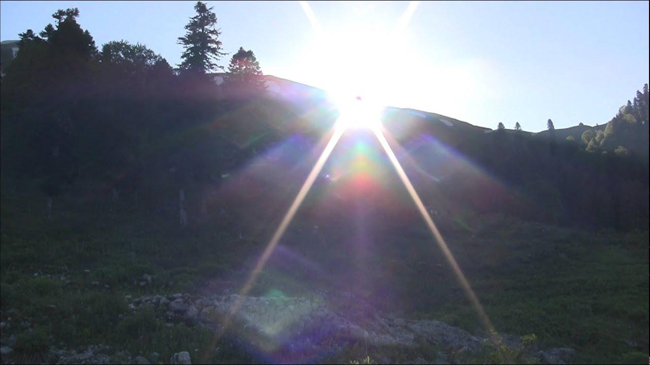 фото восход солнца в горах