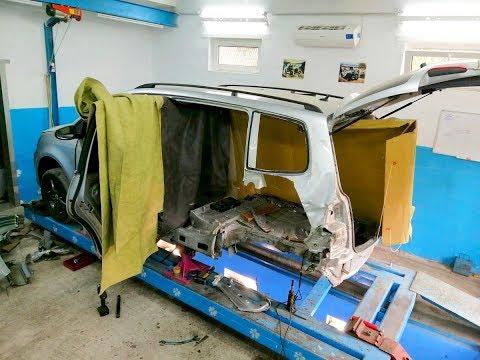 Volkswagen Touran. КАК сломать кузов и испортить целые детали) . Удаление лишнего.