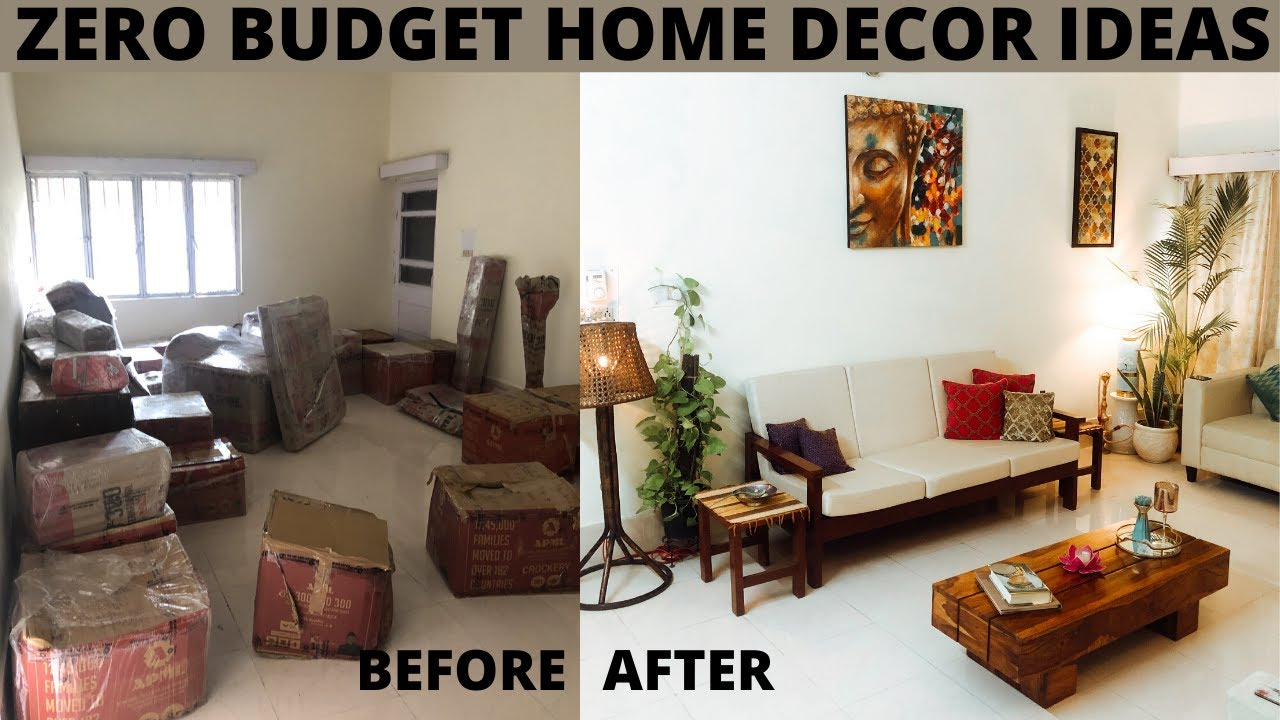 Zero Budget Living Room Makeover Living Room Decorating Ideas Living Room Tour India Youtube